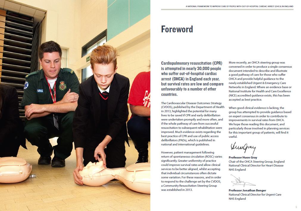 Forward from Resuscitation to recovery report